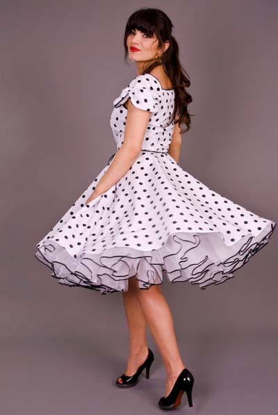 There are some nice models with petticoated dresses on this site. ""