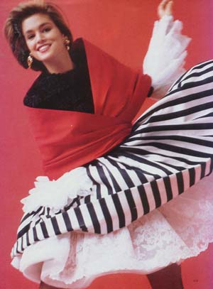 Above from the Summer 1987 Christian LaCroix Collection